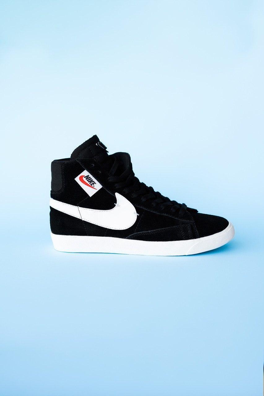 Кроссовки мужские Nike Blazzer Black (найк блейзер)