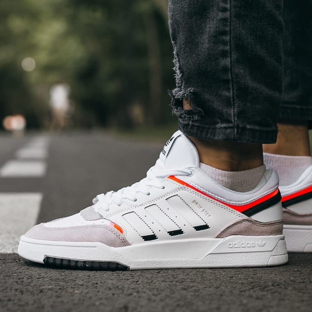 Кроссовки мужские Adidas Drop Step White\Grey\Red