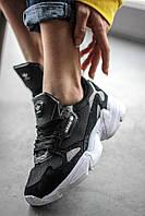 Кроссовки женские Adidas Falcon Black/White (адидас фалкон), фото 1