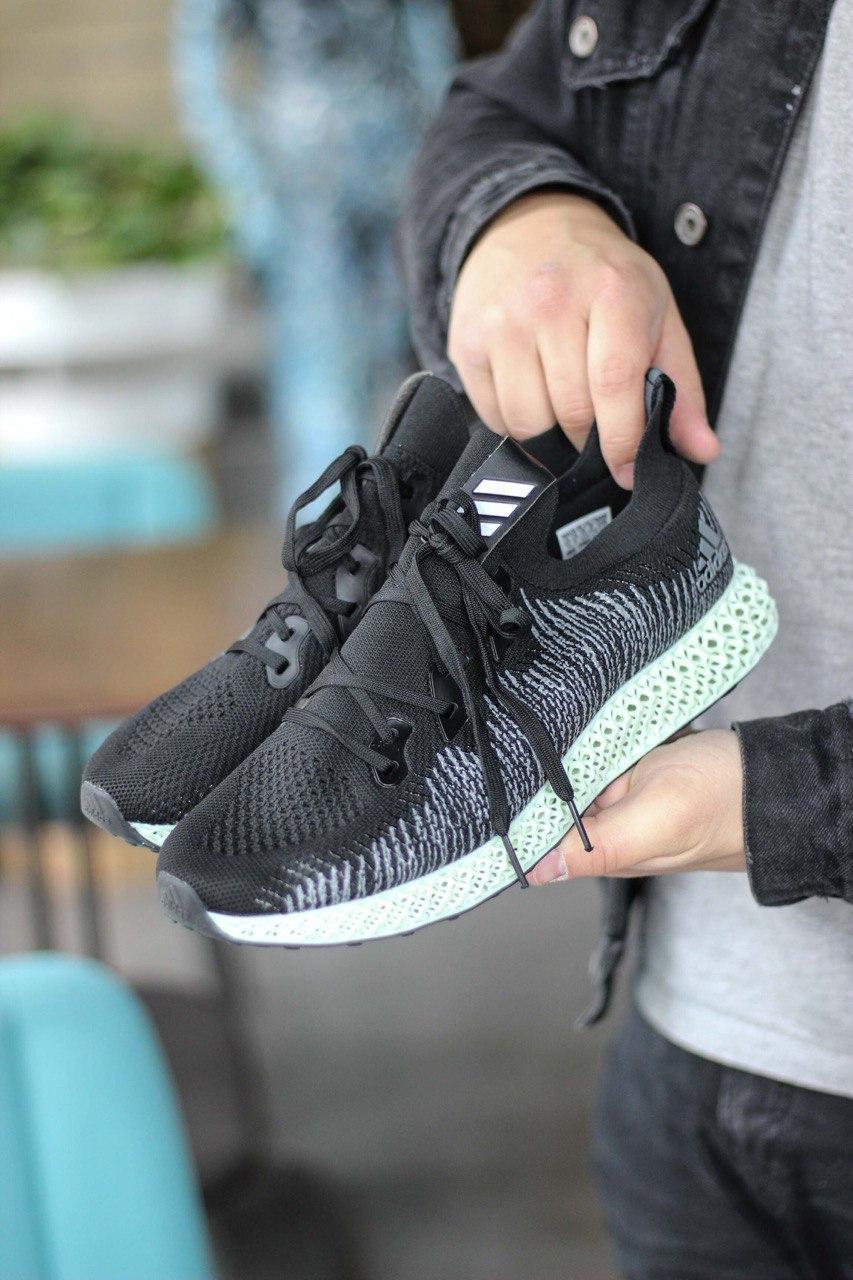 Кроссовки мужские Adidas Alphaedge 4D Black/Green (адидас альфаэдж) 40 размер