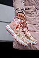 Демисезонные кроссовки женские Nike Duckboot '17 Pink (найк дакбут розовые)