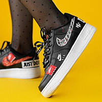 Кроссовки Nike Air Force 1 Low Just Do It Black, фото 1