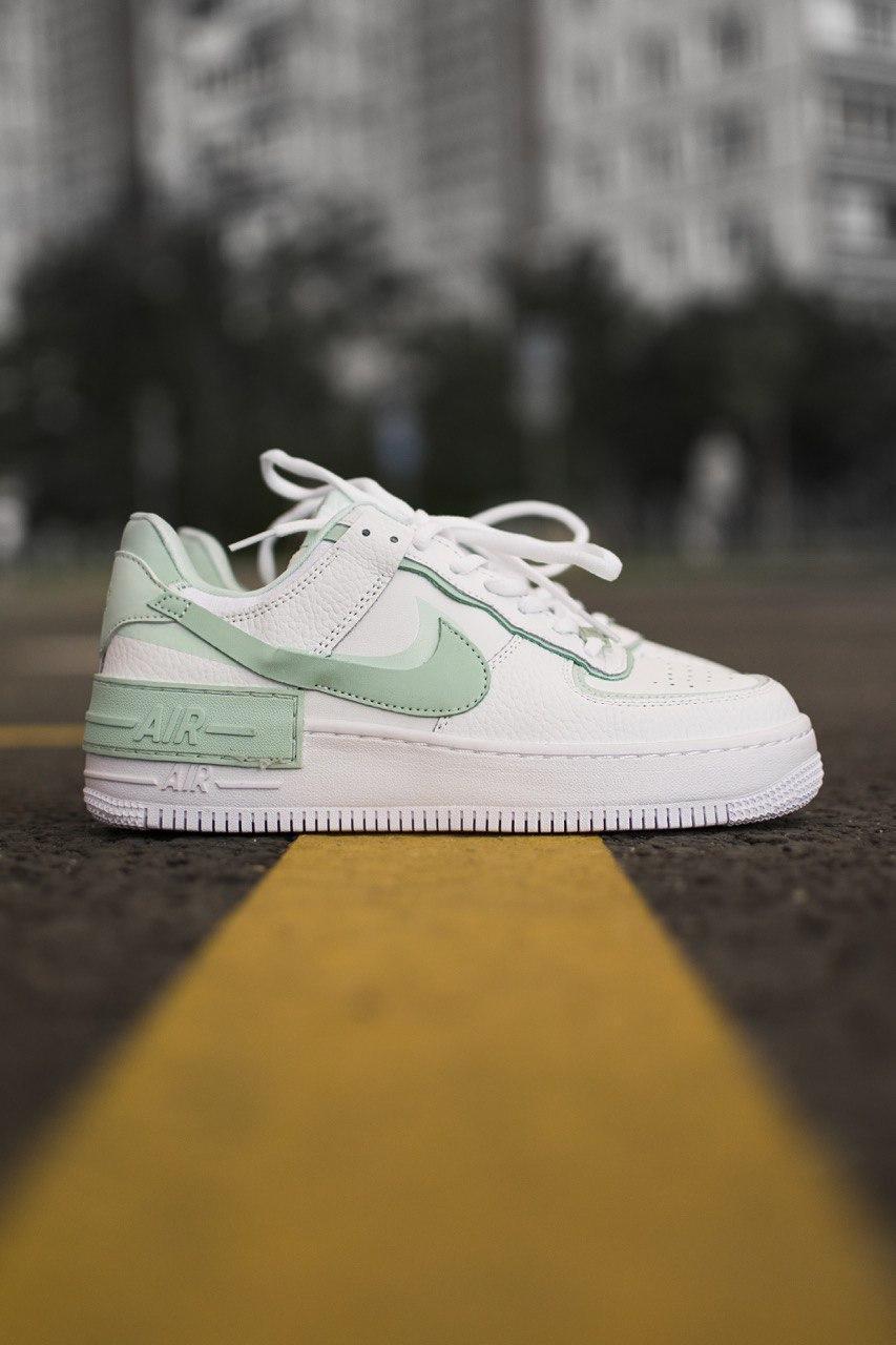 Кроссовки женские Nike Air Force Shadow White/Mint