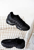 Кроссовки женские Nike Air Max 95 Triple Black (найк аир макс 95), фото 1