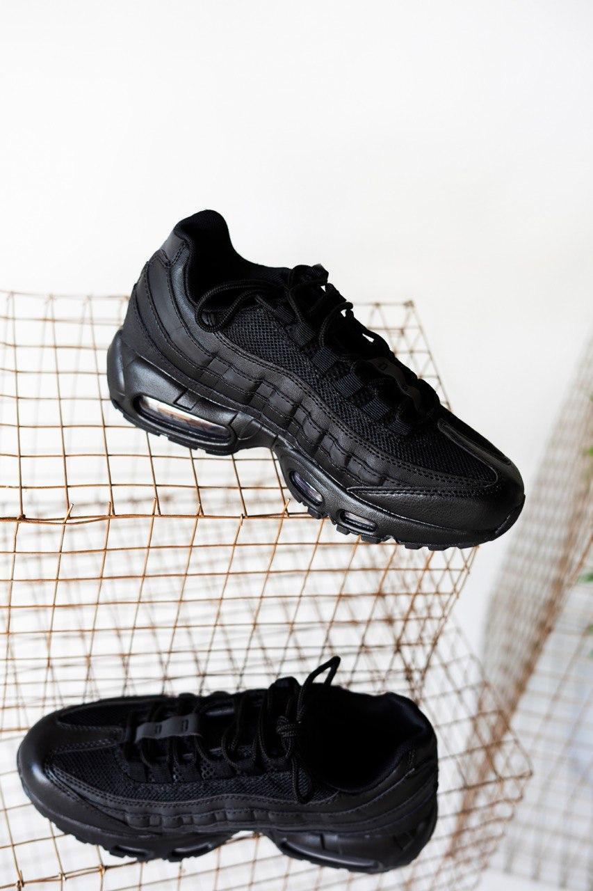 Кроссовки мужские Nike Air Max 95 Triple Black (найк аир макс 95)