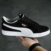 Кроссовки кеды Puma Suede Black, фото 1