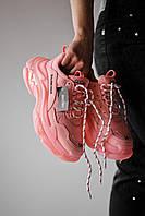 Кроссовки женские Balenciaga Triple S Clear Sole Pink (баленсиага трипл с розовые)