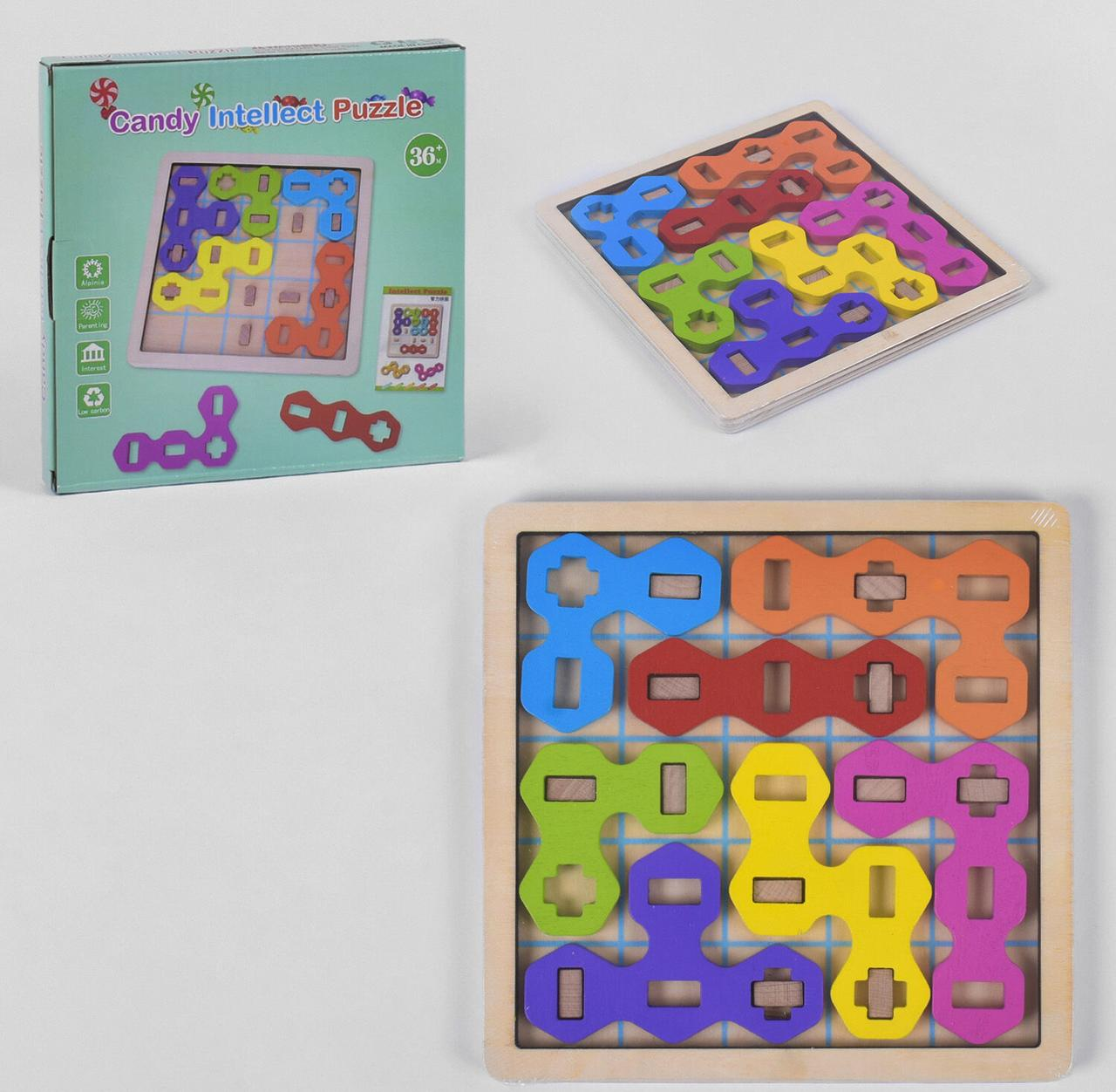"""Деревянная игра Candy Intellect Puzzle """"Логика"""" в коробке K 17553"""