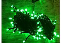 Елочная гирлянда 20м, 200 led-светодиодов зелёного свечения, IP 44