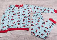 """Пижама детская демисезонная хлопковая """"Минни"""" размер 8-12 лет (от 4 комплект)"""