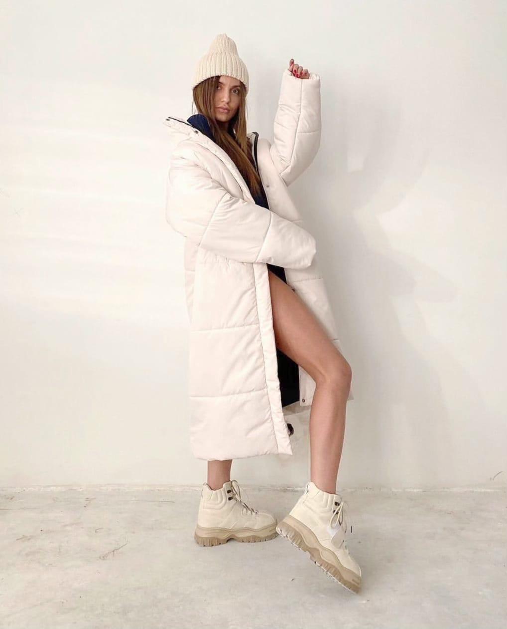 Куртка пальто женское длинное тёплое зимнее