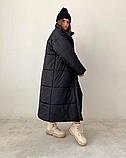 Куртка пальто женское длинное тёплое зимнее, фото 6
