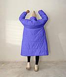 Куртка пальто женское длинное тёплое зимнее, фото 3