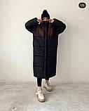 Куртка пальто женское длинное тёплое зимнее, фото 8