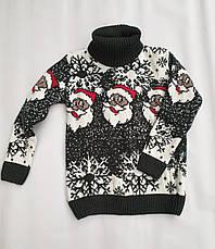 Новогодний свитер на мальчиков 2-6 лет Дед мороз, фото 3