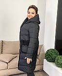 Куртка пальто женская батал зимняя тёплая длинная, фото 3