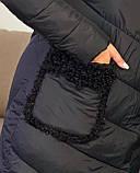 Куртка пальто женская батал зимняя тёплая длинная, фото 6