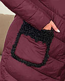 Куртка пальто женская батал зимняя тёплая длинная, фото 8