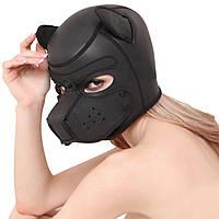 Маска неопреновая щенок собака М чёрный ( 130 116 )