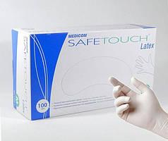 Перчатки латексные Medicom Safe-Touch Latex (500 пар, белые)