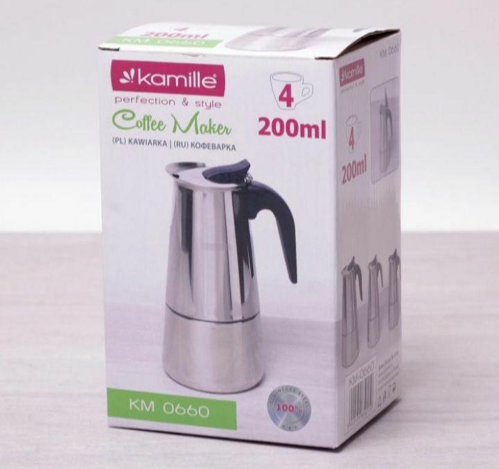 Гейзерная кофеварка Kamille 200 мл