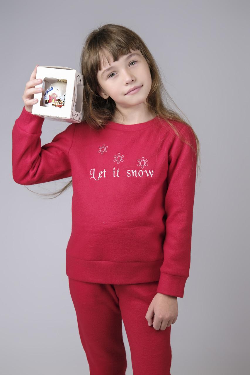 Теплая новогодняя пижама для девочки
