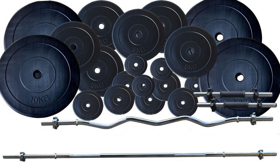 Набор: штанга + гантели WCG Premium 107 кг Черный (320.000.017)