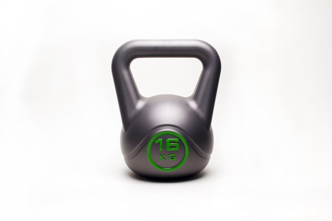 Гиря WCG 16 кг для кроссфита Серая
