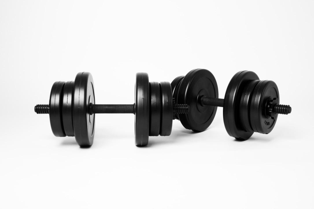 Гантели WCG 2х10 кг Черные (310.000.002)