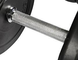 Гантели WCG 2х15 кг с металлическим грифом Черные (310.002.003), фото 3