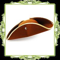 Шляпа треуголка коричневая