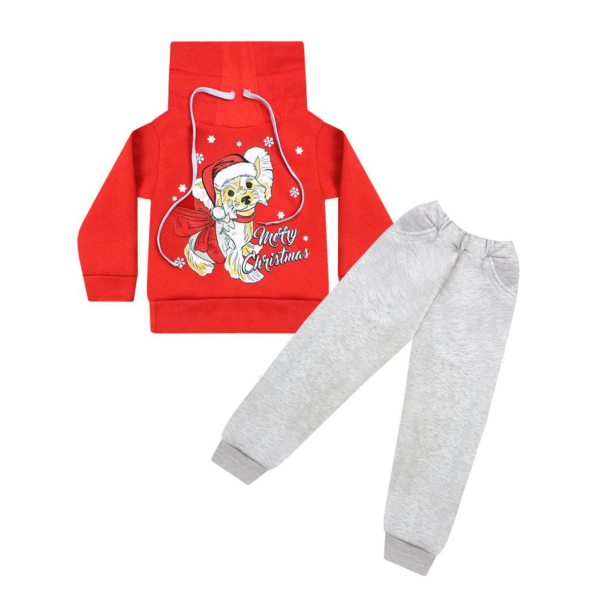 Новогодний детский костюм Рождественский Йорк для девочки трехнитка
