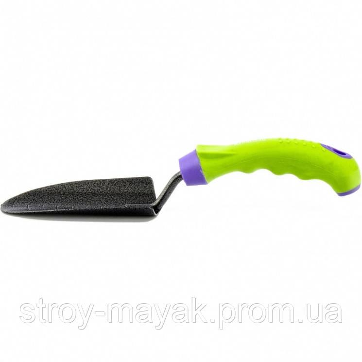 Совок посадочный узкий, защитное покрытие, прорезинена эргономичная рукоятка, PALISAD