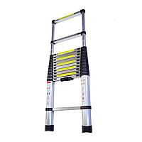 Складная лестница алюминиевая телескопическая 3,8 м, фото 1