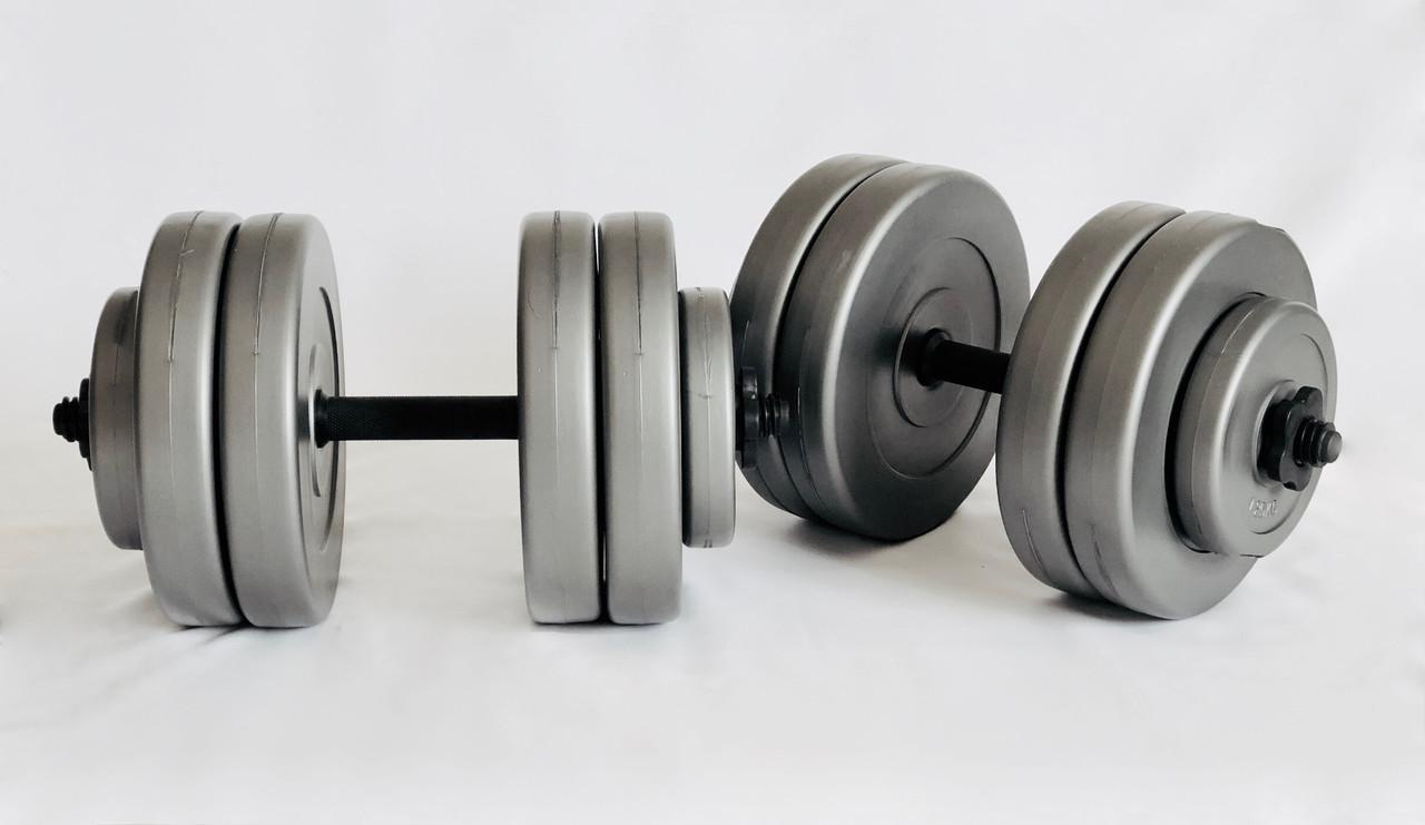 Гантели WCG 2х23 кг Серые (310.001.007)