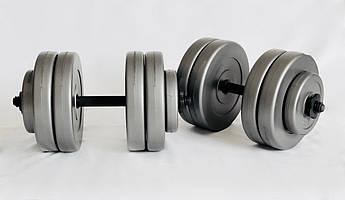 Гантели WCG 2х23 кг Серые (310.001.007), фото 2