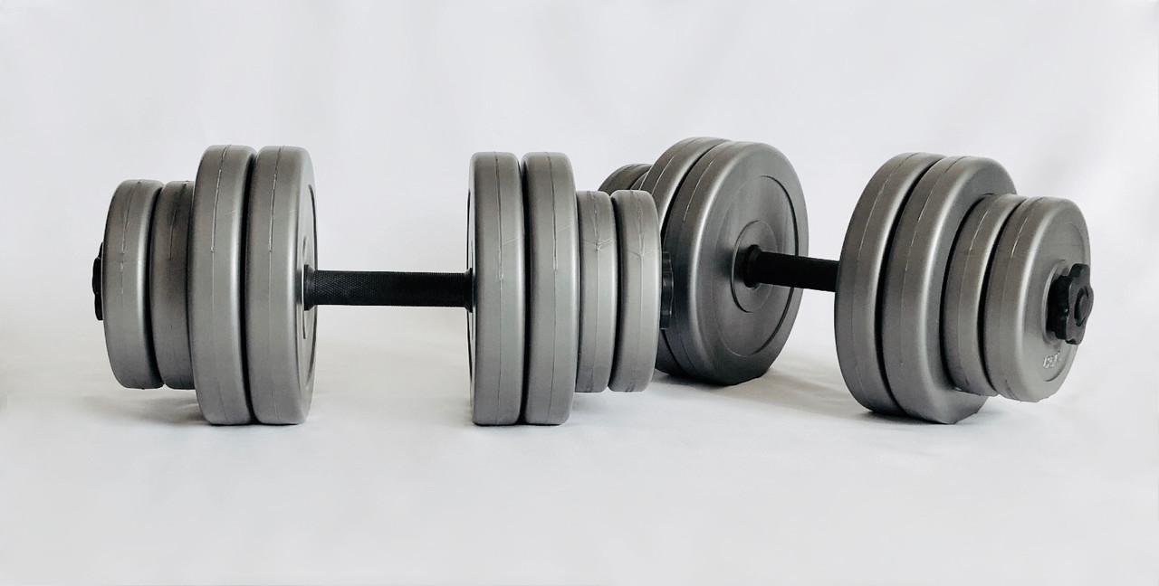 Гантели WCG 2х15 кг Серые (310.001.004)