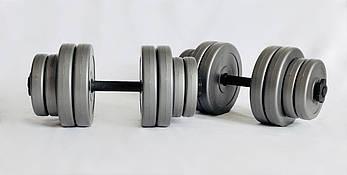 Гантели WCG 2х15 кг Серые (310.001.004), фото 2