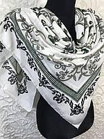 Турецкий красивый платок на шею в молочном цвете