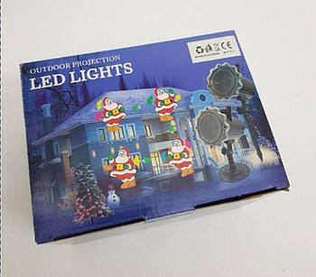 Новогоднее лазерное шоу для дома Деды Морозы и Снеговики