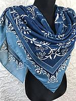 Бирюзовый платок женский с красивым узором