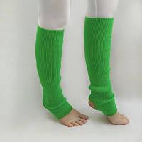 В'язані дитячі гетри для дівчаток для танців 35 см Зелений, фото 1