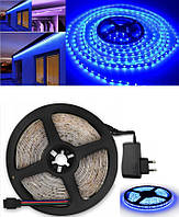 Светодиодная LED лента 3528 Синяя 5м + блок питания
