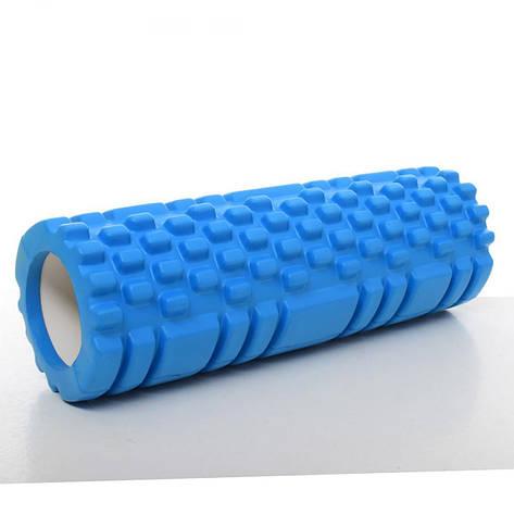 Ролик массажный для йоги 30 см Голубой (RI0340), фото 2