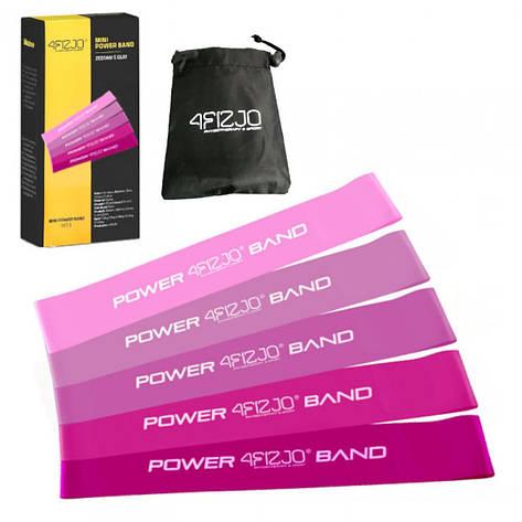 Резинка для фитнеса и спорта (лента-эспандер) 4FIZJO Mini Power Band 5 шт 1-20 кг 4FJ0186, фото 2