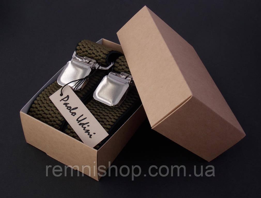 Широкие мужские подтяжки Paolo Udini в подарочной упаковке
