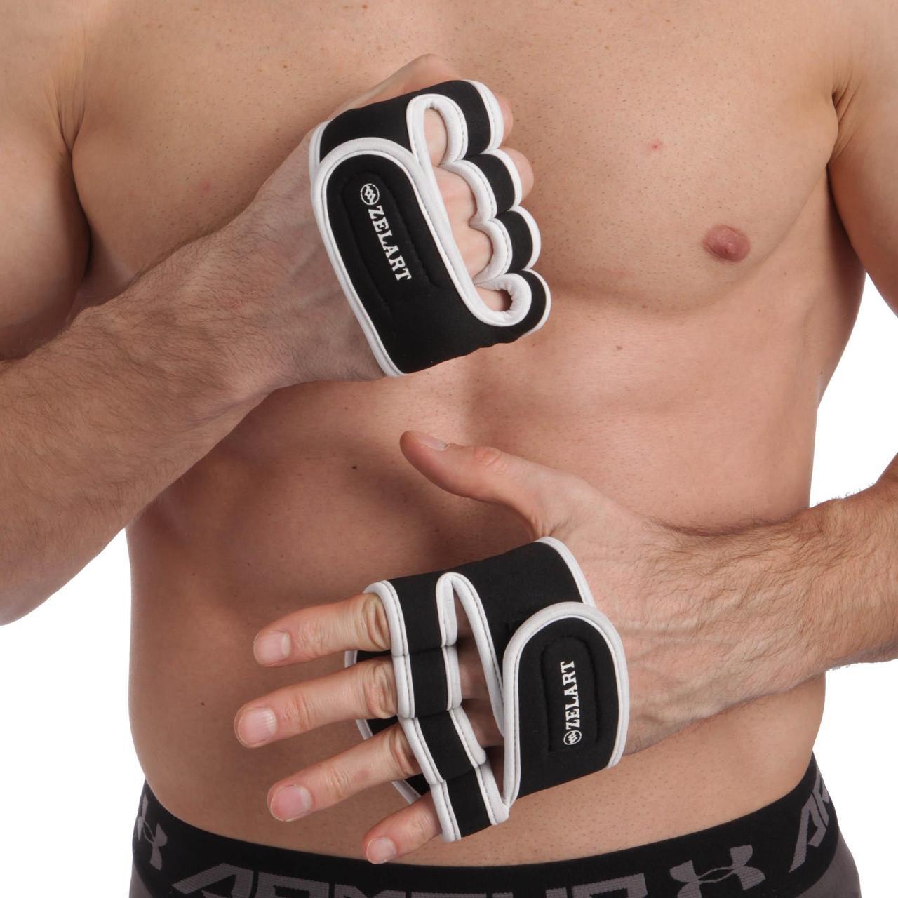 Накладки атлетичні (грипад) для підняття ваги Zelart ZG-3617 розмір S-XXL (неопрен, PL, еласт,