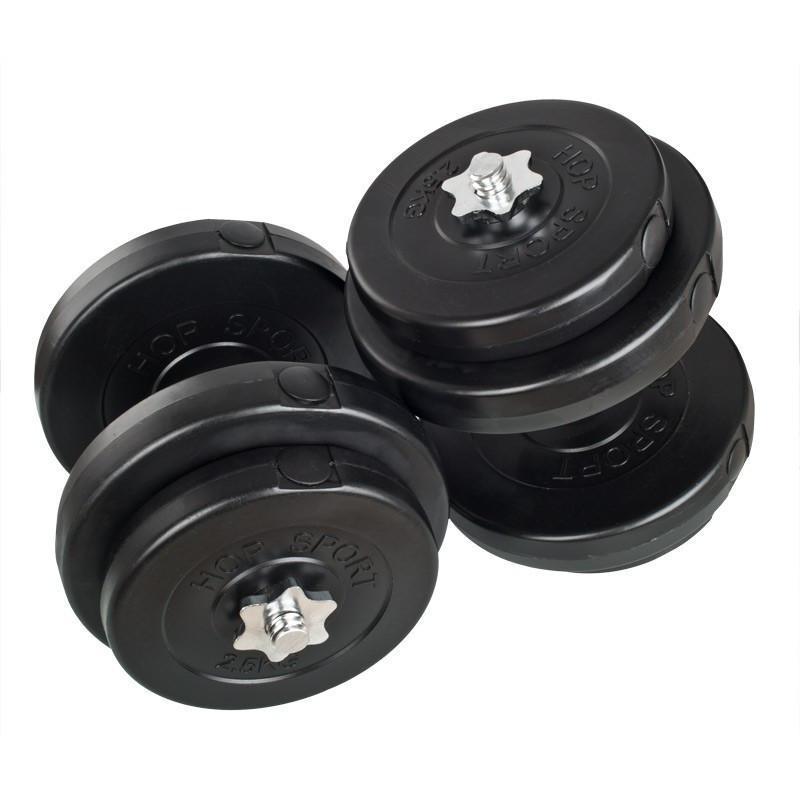 Гантели WCG 2х18 кг с металлическим грифом Черные (310.002.004)
