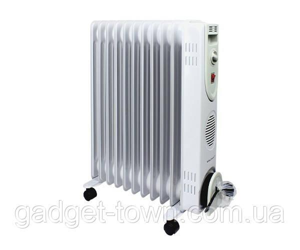 Масляний радіатор Grunhelm, масляний обігрівач на 11 секцій 2500Вт з терморегулятором