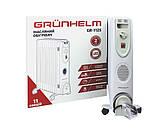 Масляний радіатор Grunhelm, масляний обігрівач на 11 секцій 2500Вт з терморегулятором, фото 2